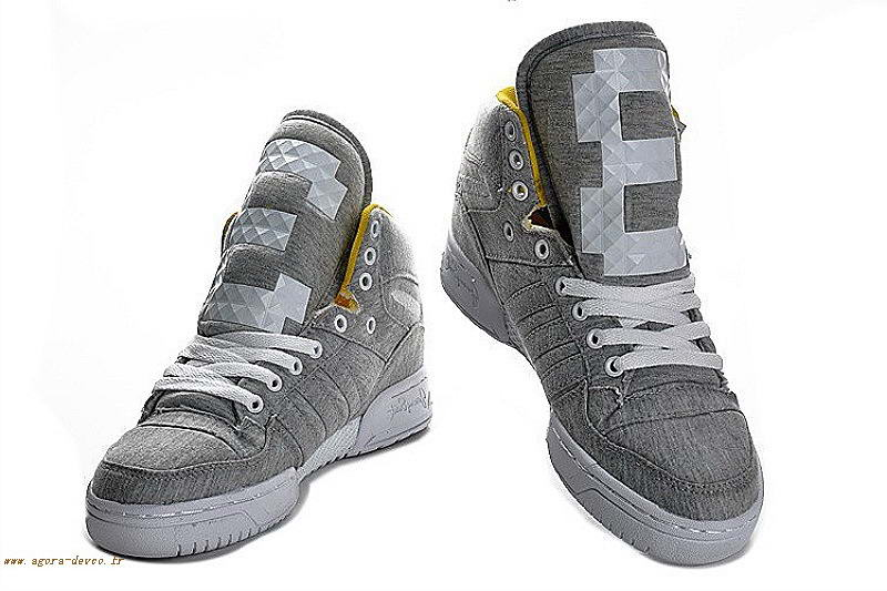 official photos 65c52 a2471 Adidas Argenté Chaussure Homme Gris Originals Attitude Logo Three UK WTXy3FE