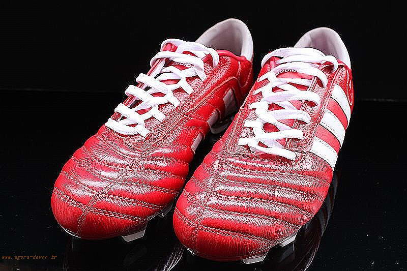 newest 406b1 a0183 Adidas Chaussure Blanche Homme Rouge Adipure TH TRX FG WOGAS- uZL61xg7