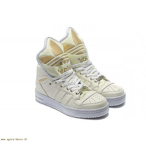 purchase cheap b280e 3c825 Adidas Chaussures Homme Blanche X Jeremy Scott Big Tongue Attitude O G S  Jr1xy