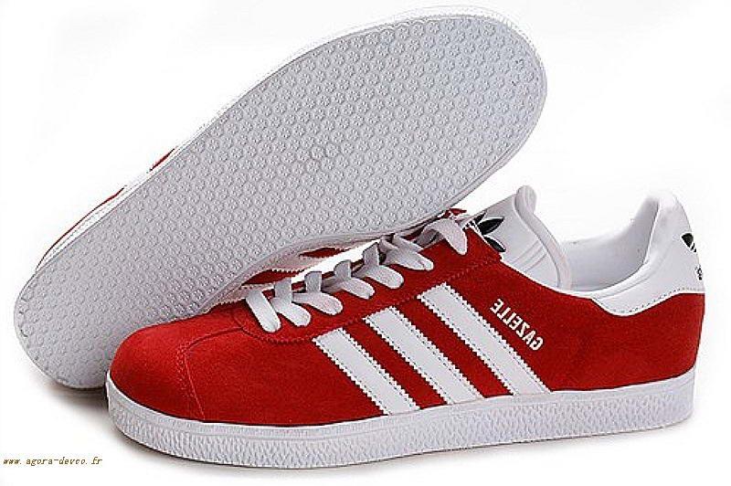 chaussure adidas homme gazelle rouge et noir