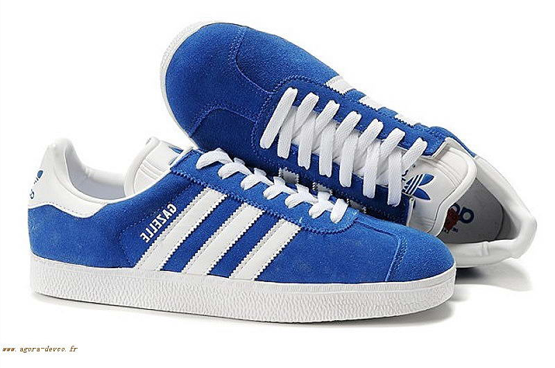 new product 64481 f7b45 Adidas Homme Chaussure Bleu Blanche Originals Gazelle 2 WSG-S Sy70tad1g
