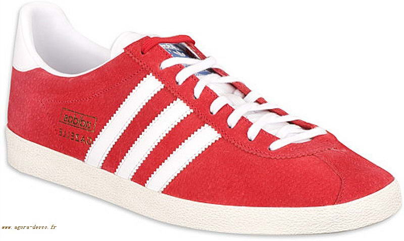 Blanche Originals Homme Rouge Euks Gazelle Chaussures Teevd Adidas wqA6F