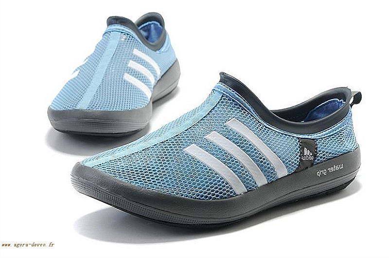 online store b9838 aa164 Bleu Chaussures Homme Noir Adidas Blanche Climacool Wasser Grip Barca LOOK-  K5t