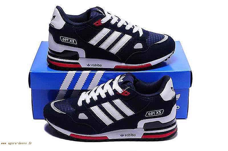 Homme Sogs Originals Chaussure Adidas Blanche Bleu 6vfz46jar Zx750 7gzPx
