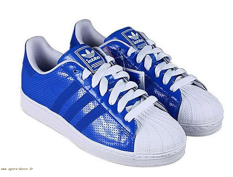 new product 5ae8f fd4af Homme Adidas Bleu Chaussure Blanche Superstar 2 Z-S ndoNr