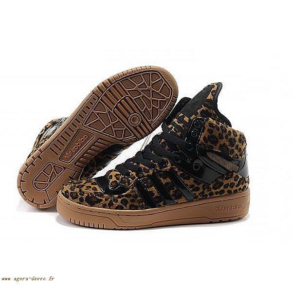 best service ce69e b56bd Homme Adidas Chaussures Noir Jeremy Scott M Attitude Logo Tongue Big OS-  CZLFgNYkN
