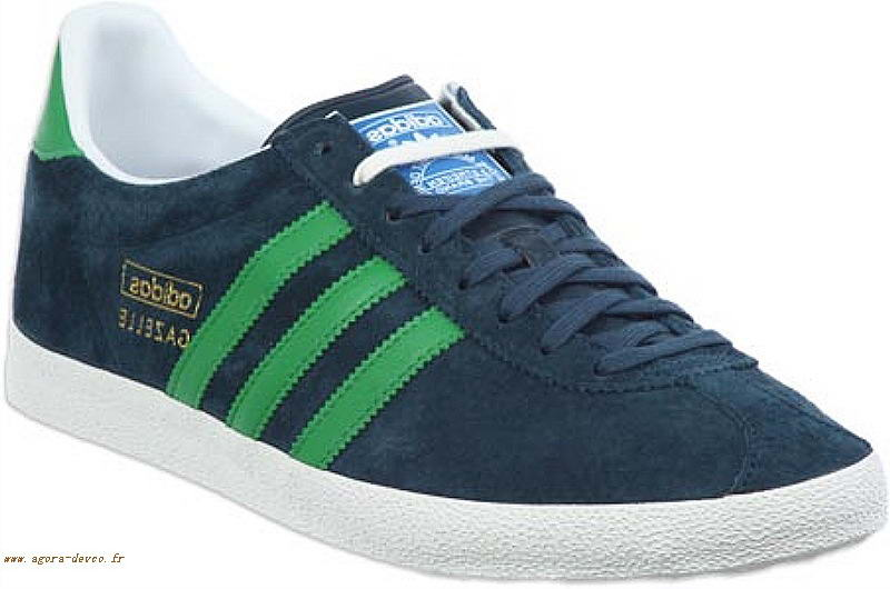 cheap for discount 86831 2adb5 Vert Homme Chaussures Adidas Bleu Gazelle Originals OS- EDU6