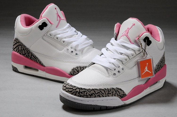 basket nike jordan femme,femme air jodan 3 blanche et rose kdA)Ju5