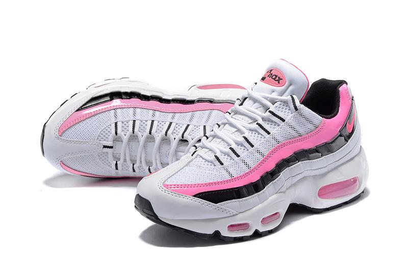 best website a169e c9b01 chaussure femme pas cher nike,nike air max 95 blanche et rose et noir femme  ...