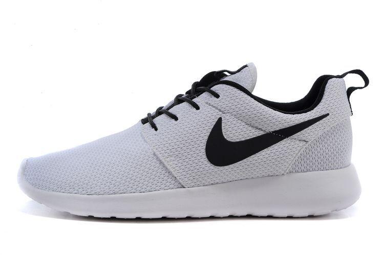 grand choix de 5f8d3 40790 blanc noir femmes nike roshe run chaussures