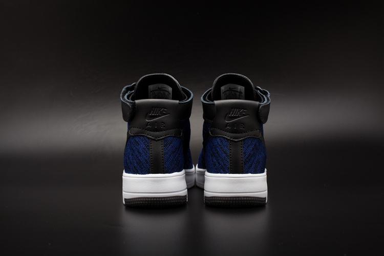 nouvelle chaussure nike,air force 1 flyknit noir et bleu 4G9y