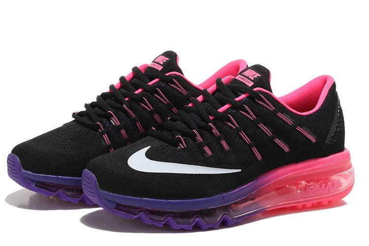 newest c667c 75874 chaussure femme pas cher nike,femme air max 2016 noir et violet soldes  XkV2ZU- 0Js