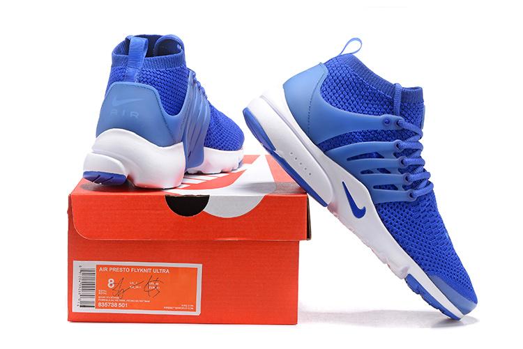 Presto Bleu Nike air Blanche Femme Chaussure Presto Flyknit Et qw6Rt