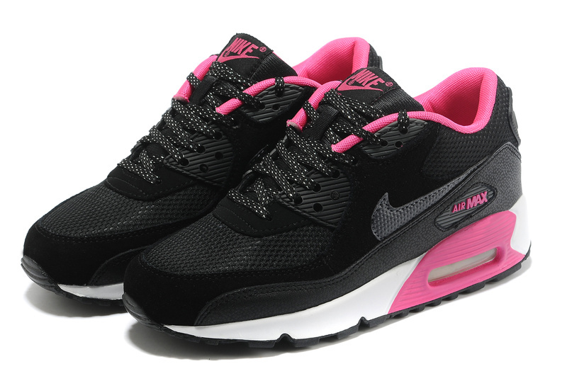 purchase cheap f7ccb 51f9f chaussure nike femme pas cher,nike air max 90 noir et rose MJ 2sBD