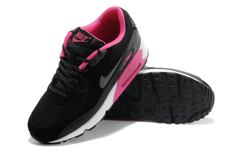 0373002c4b0ef chaussure nike femme pas cher,nike air max 90 noir et rose MJ 2sBD