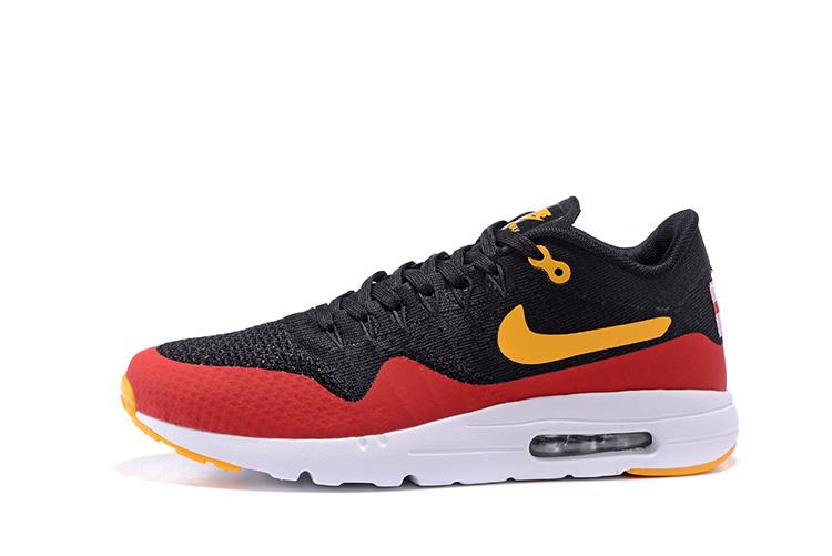 promo code f5a5a aa805 chaussure nike air max,homme air max 1 noir et rouge et jaune Zv2n