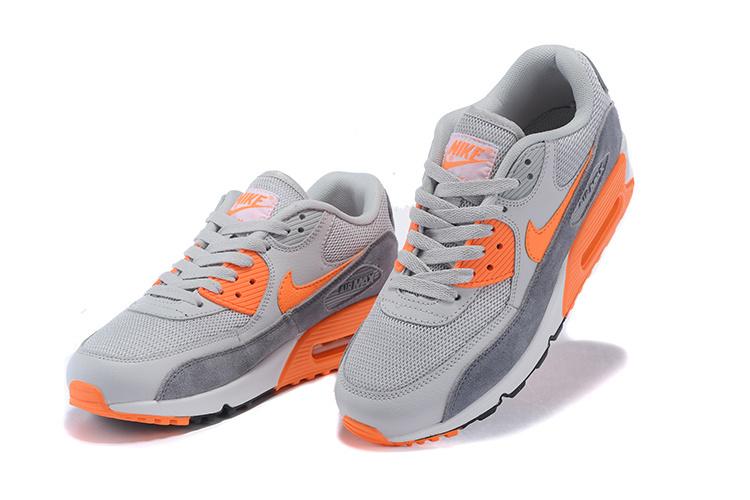 chaussure nike pas chernike air max 90 gris et orange a5@ic9lx