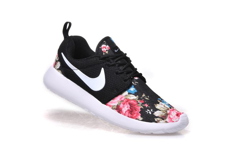buy popular 0e97b 69b26 nike roshe one sneakers,vendre roshe run print femme noir et blanc TdT O
